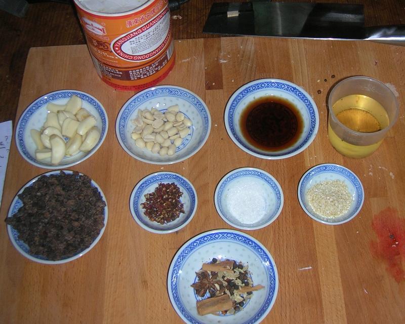 Zutaten für Black Bean Sauce